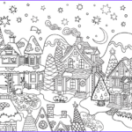 Adult Christmas Coloring Pages Beautiful Photography Christmas Village Adult Coloring Page