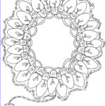 Adult Christmas Coloring Pages Elegant Image Christmas Yule Holiday Light Wreath Coloring Page Free