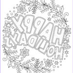 Adult Christmas Coloring Pages Luxury Collection Happy Holidays Adult Coloring Freebie