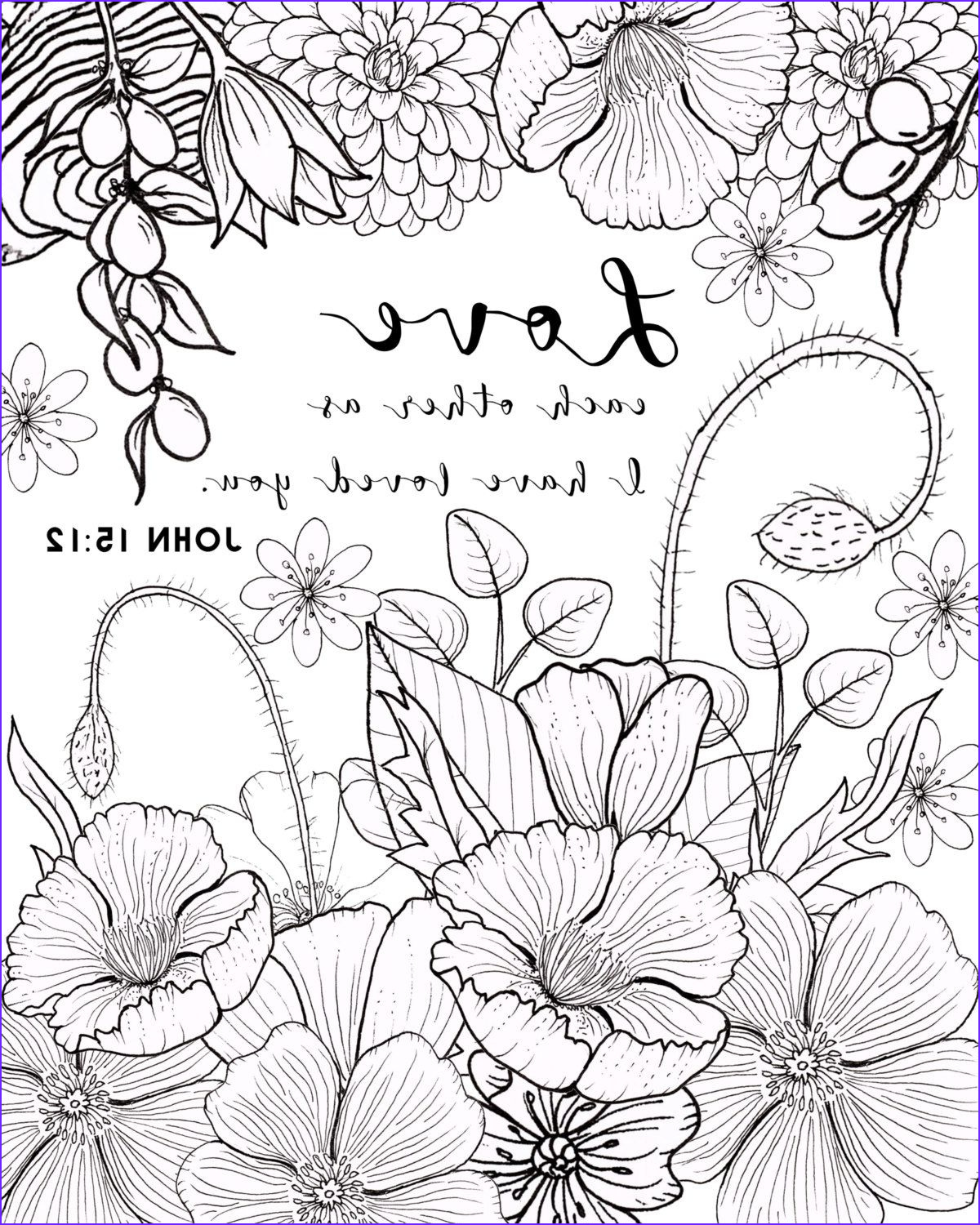 Adult Coloring Bible Beautiful Gallery John 15 12 Coloring Page Love Coloring Page by