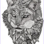 Adult Coloring Book Animals Unique Photos Lynx Animals Adult Colouring Zentangles