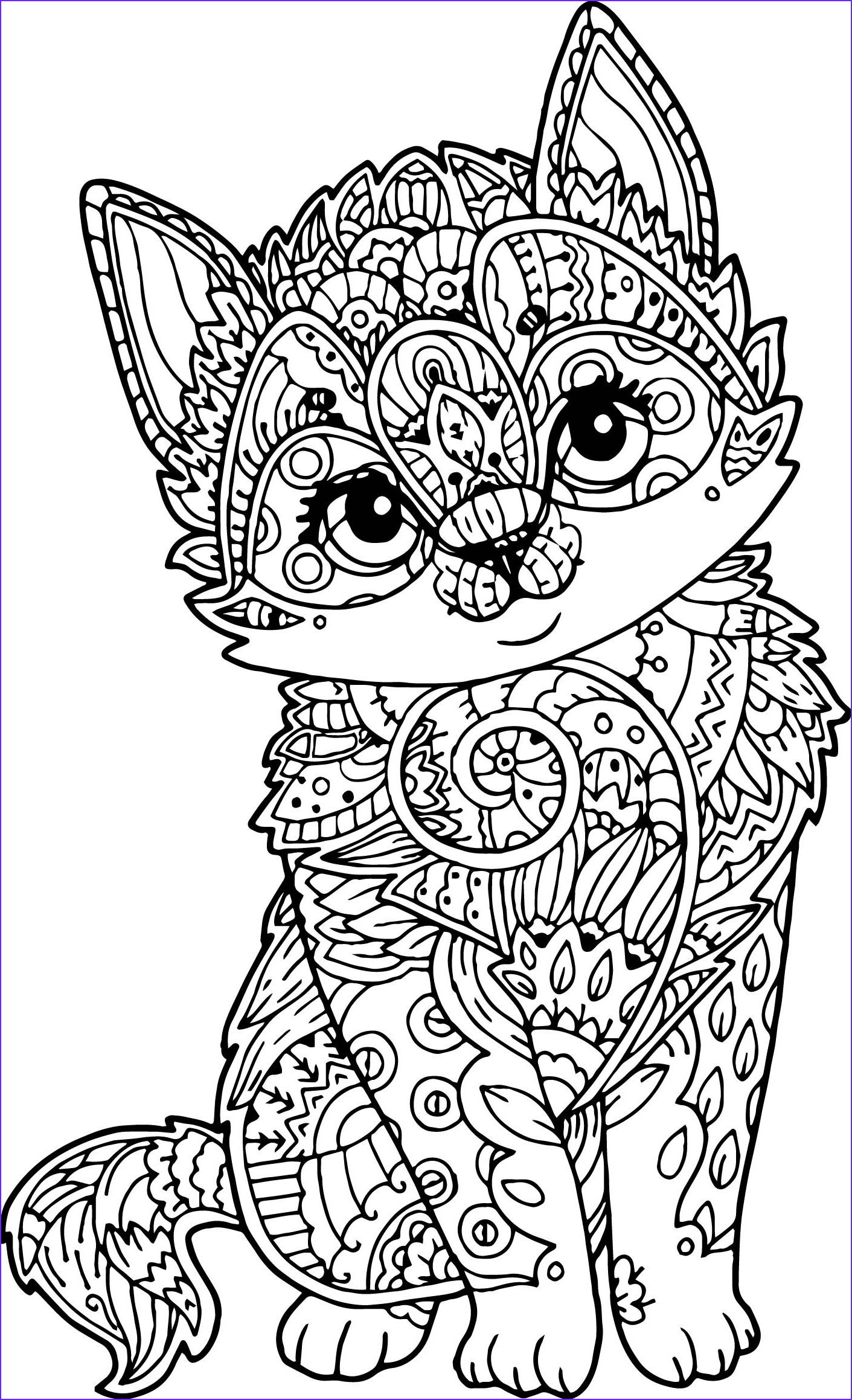Adult Coloring Book Cat Best Of Image Adult Mandala Cat Puppy Coloring Page