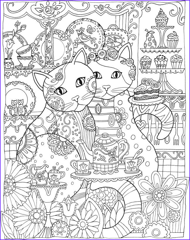 Adult Coloring Book Cat Luxury Image Creative Haven Creative Cats Colouring Book Page 3 Of 5