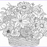 Adult Coloring Book Flowers New Stock Flower Coloring Pages