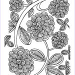 Adult Coloring Book Flowers New Stock Free Spring Coloring Pages For Adults The Country Chic