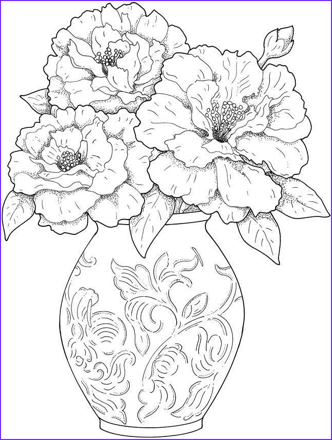 Adult Coloring Book Flowers Unique Stock Adult Coloring Pages Flowers 2 2
