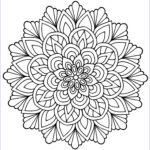 Adult Coloring Book Mandala Unique Image Mandala Flower With Leaves M&alas Adult Coloring Pages