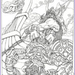 Adult Coloring Book Pages Fantasy Awesome Collection Monster Mash Up Aliens Meet Their Match Dover