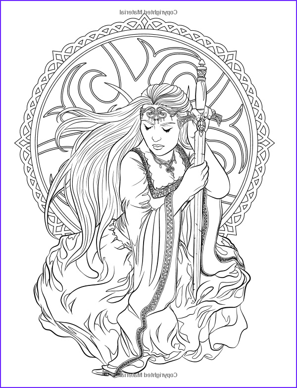 Adult Coloring Book Pages Fantasy Awesome Photos Gothic Dark Fantasy Coloring Book Volume 6 Fantasy Art