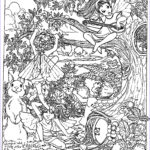 Adult Coloring Book Pages Fantasy Beautiful Collection Fantasy Child Elves Myths & Legends Adult Coloring Pages