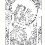 Adult Coloring Book Pages Fantasy Beautiful Gallery Fairy 8 Art I Like Pinterest
