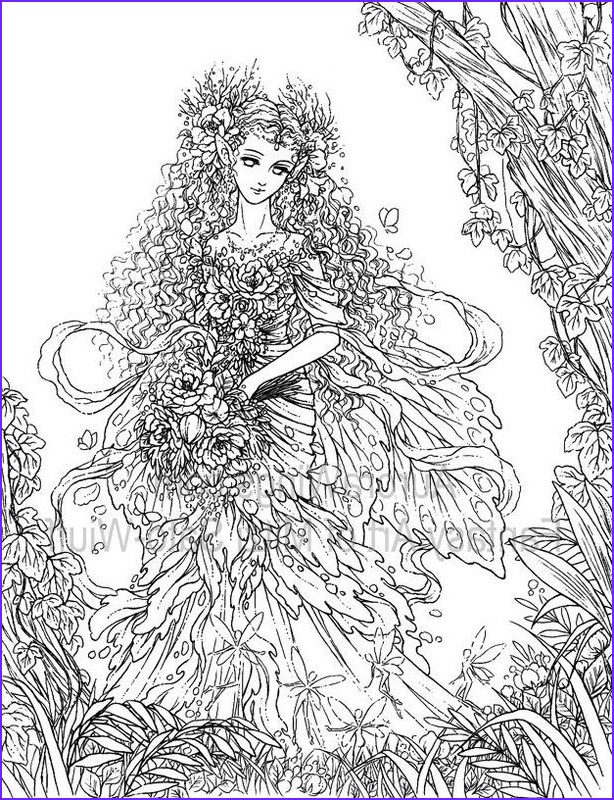 Adult Coloring Book Pages Fantasy Beautiful Photos Artist Mitzi Sato Wiuff Coloring butterfly Papillon