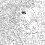 Adult Coloring Book Pages Fantasy Elegant Collection 5 Fantasy Horse Coloring Pages – Stamping