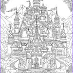 Adult Coloring Book Pages Fantasy Elegant Collection Castle Printable Adult Coloring Page From Favoreads
