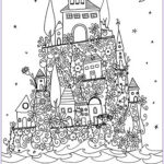 Adult Coloring Book Pages Fantasy Elegant Gallery Fantasy Castle Architecture Adult Coloring Pages
