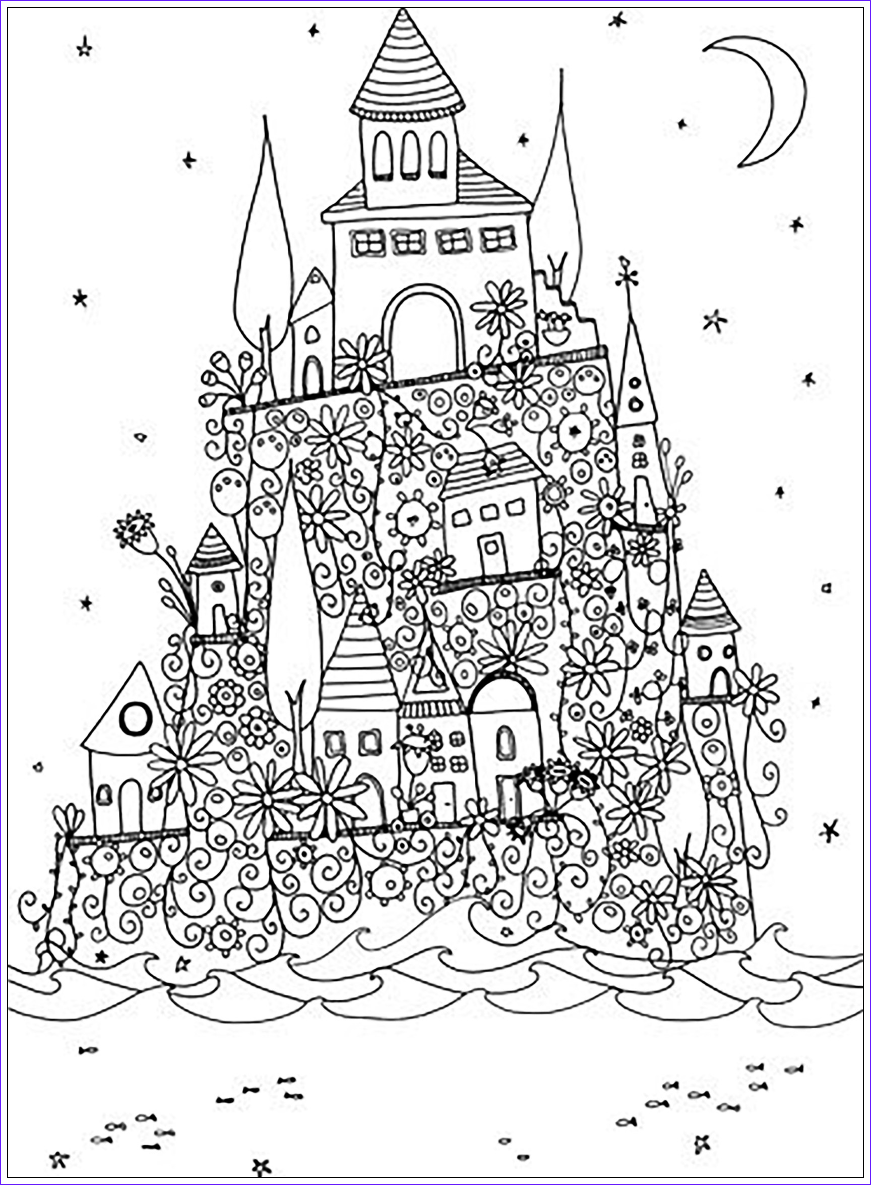 image=architecture home coloring adult fantasy castle 1