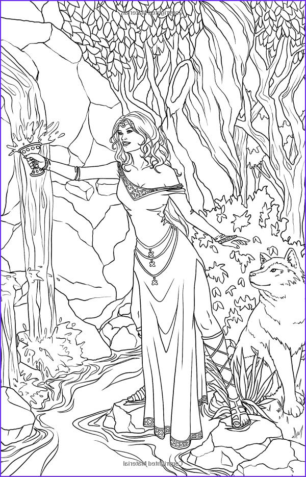 Adult Coloring Book Pages Fantasy Inspirational Images Amazon Magic Minis Pocket Sized Fairy Fantasy Art