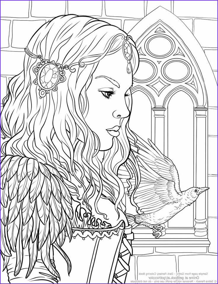 Adult Coloring Book Pages Fantasy New Collection Selina Fenech Gothic Coloring Book Ravens Call
