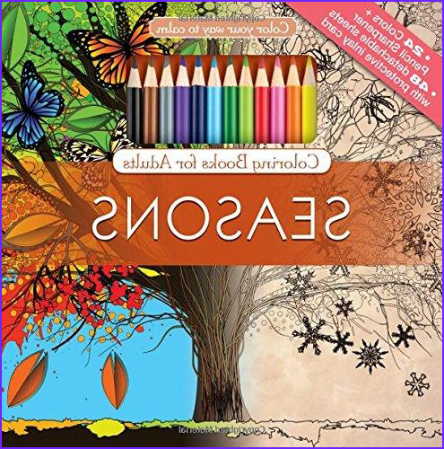 Adult Coloring Book Pencils Awesome Photography Seasons Adult Coloring Book Set with 24 Colored Pencils