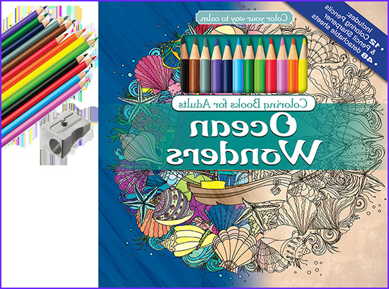 Adult Coloring Book Pencils Awesome Photos Ocean Wonders Adult Coloring Book with Color Pencils
