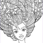 Adult Coloring Book Pictures Awesome Gallery 10 Crazy Hair Adult Coloring Pages Page 9 Of 12 Nerdy