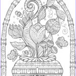 Adult Coloring Book Pictures Cool Photos Vase Of Flowers Adult Coloring Page