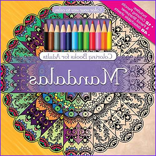 Adult Coloring Book Sets Awesome Image Mandalas Adult Coloring Book Set with 24 Colored Pencils