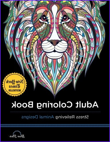 adult coloring book stress relieving animal designs escaped fragment =