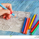 Adult Coloring Books And Pencils Cool Photos Adult Coloring Books Colored Pencils Anti Stress Tendency