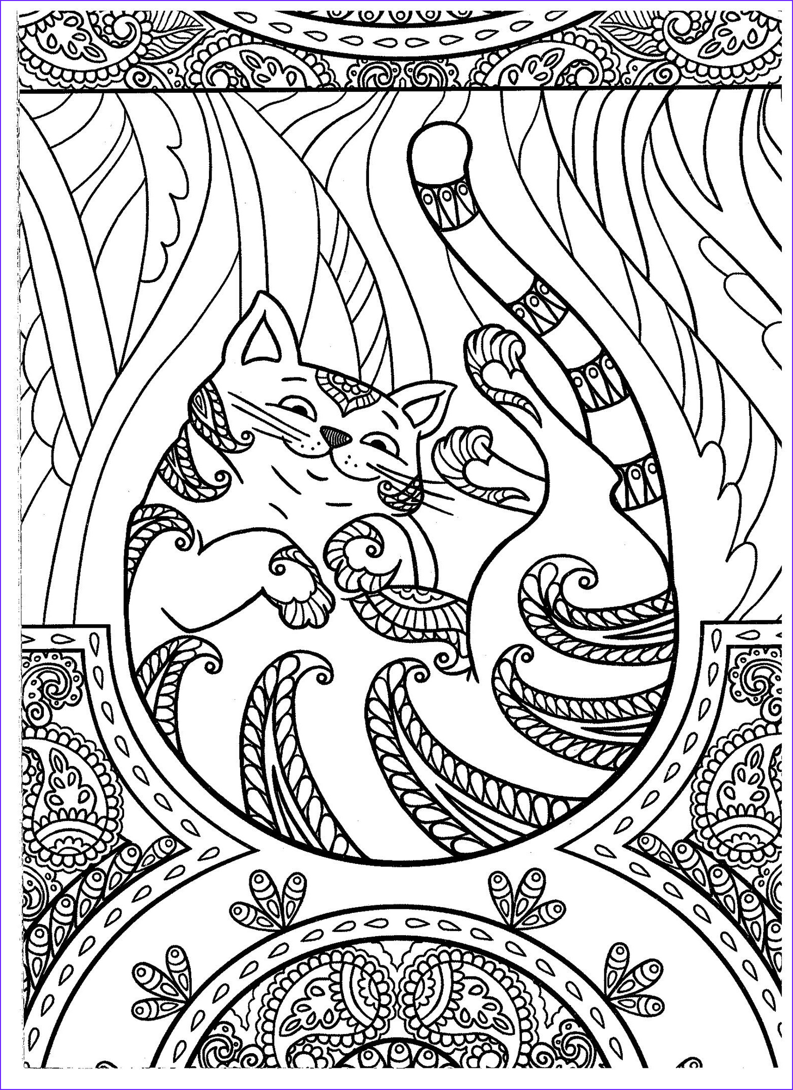 Adult Coloring Books Cats Beautiful Image Cat Coloring Page Kids Coloring Pages Books