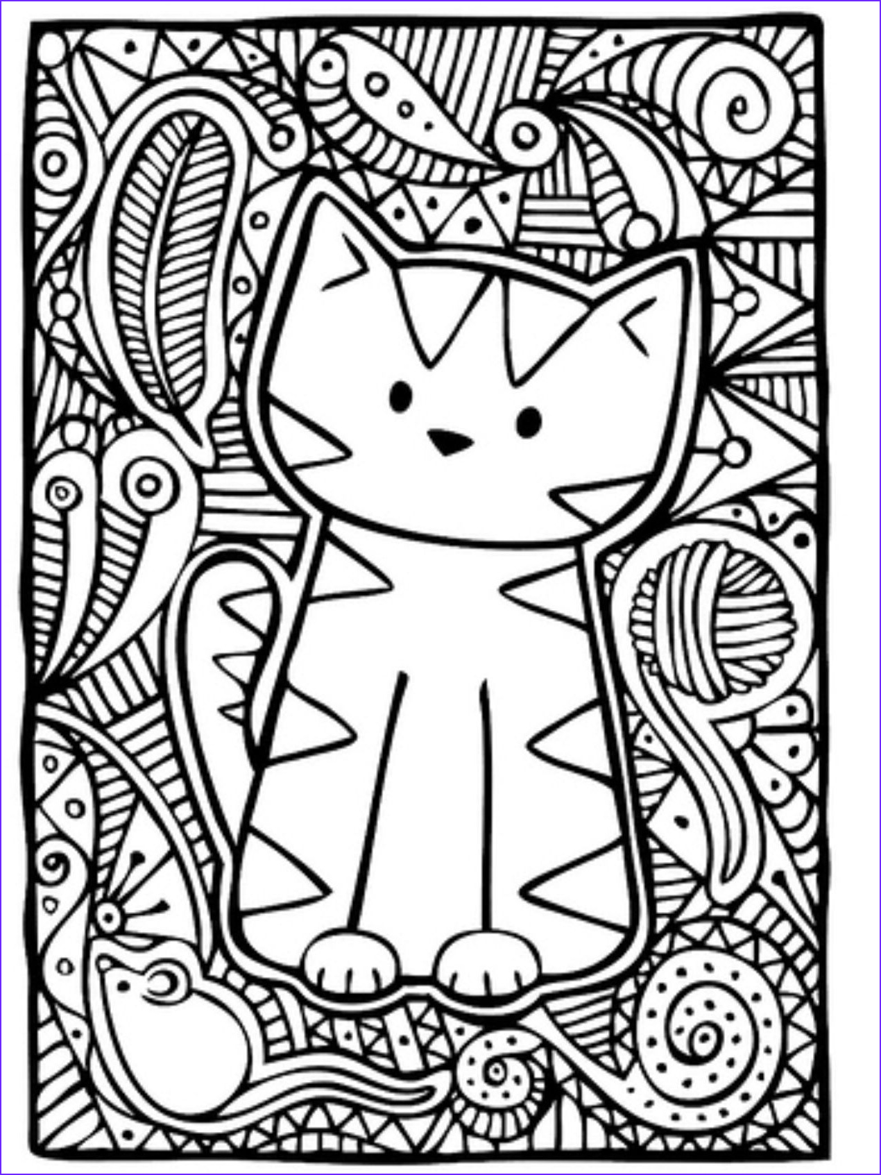 Adult Coloring Books Cats Beautiful Photos Kleurplaat Poes Zentangle and Coloring