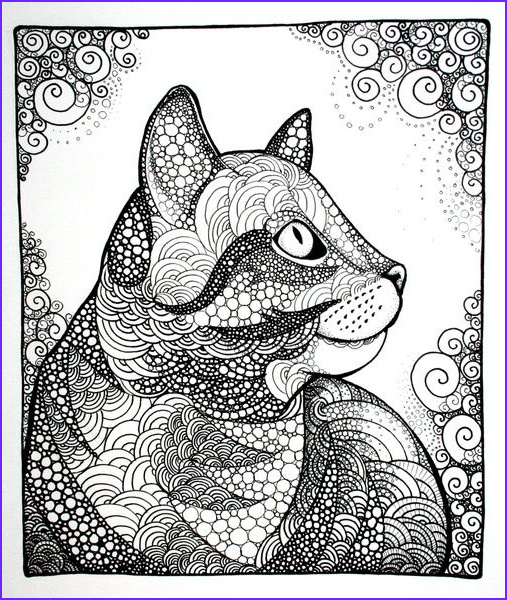 Adult Coloring Books Cats Best Of Photos Dreamy Cat Art Print