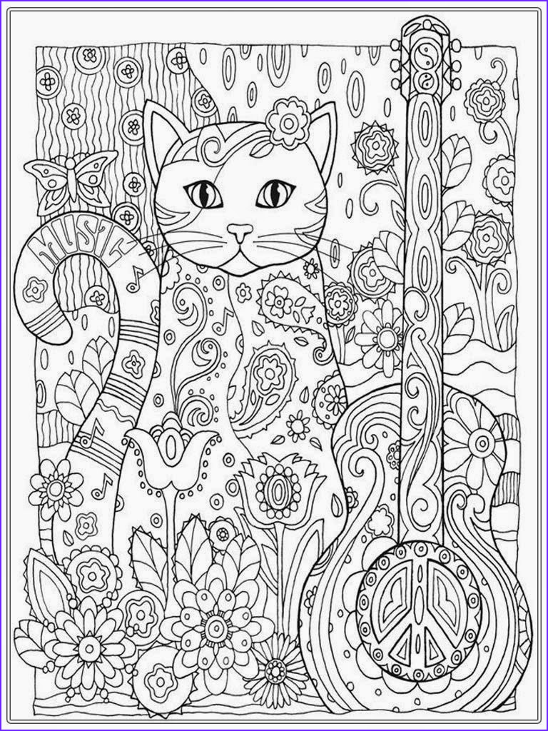 Adult Coloring Books Cats Unique Image Cat Coloring Pages for Adult