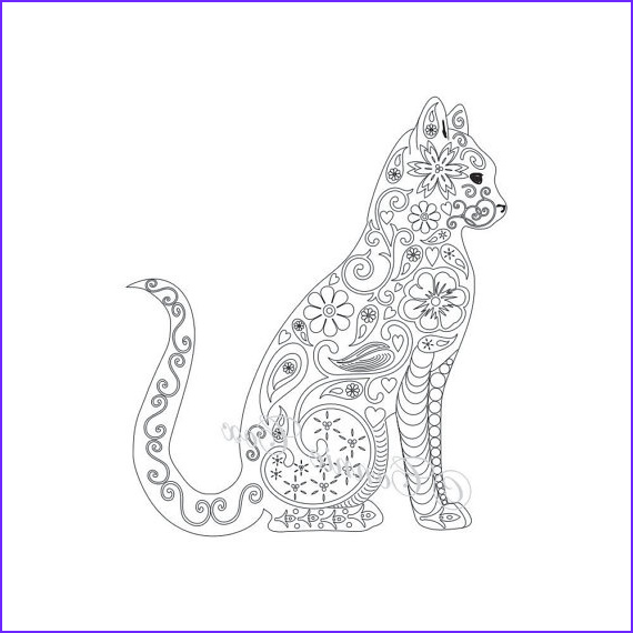 Adult Coloring Books Cats Unique Photos Cat Coloring Pages for Adults