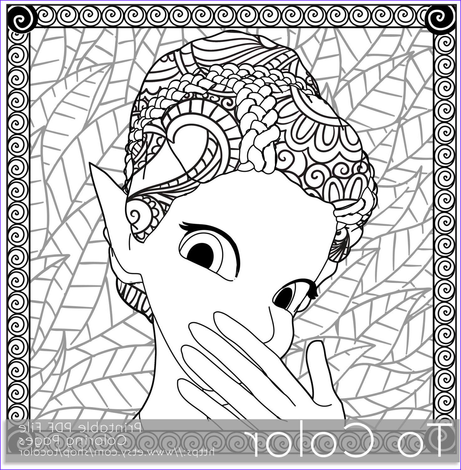 Adult Coloring Books Download Cool Photography Retro Girl Pixie Fairy Printable Coloring Pages for
