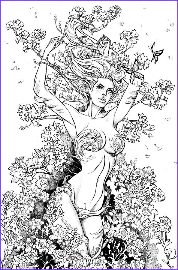 fantasy lady coloring pages