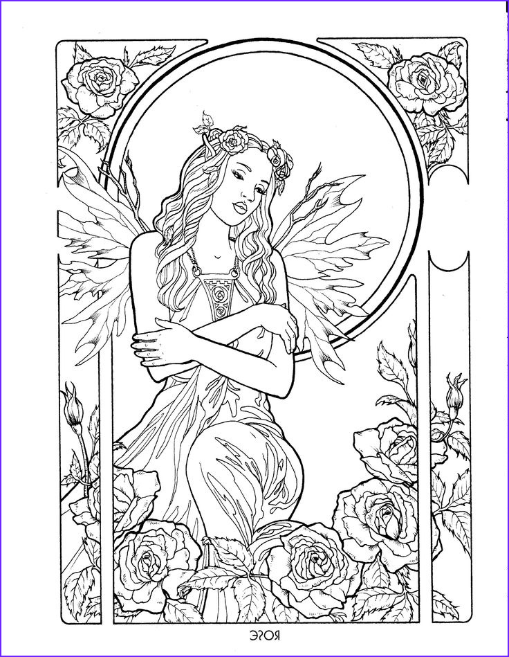 adult colouring fairies angels