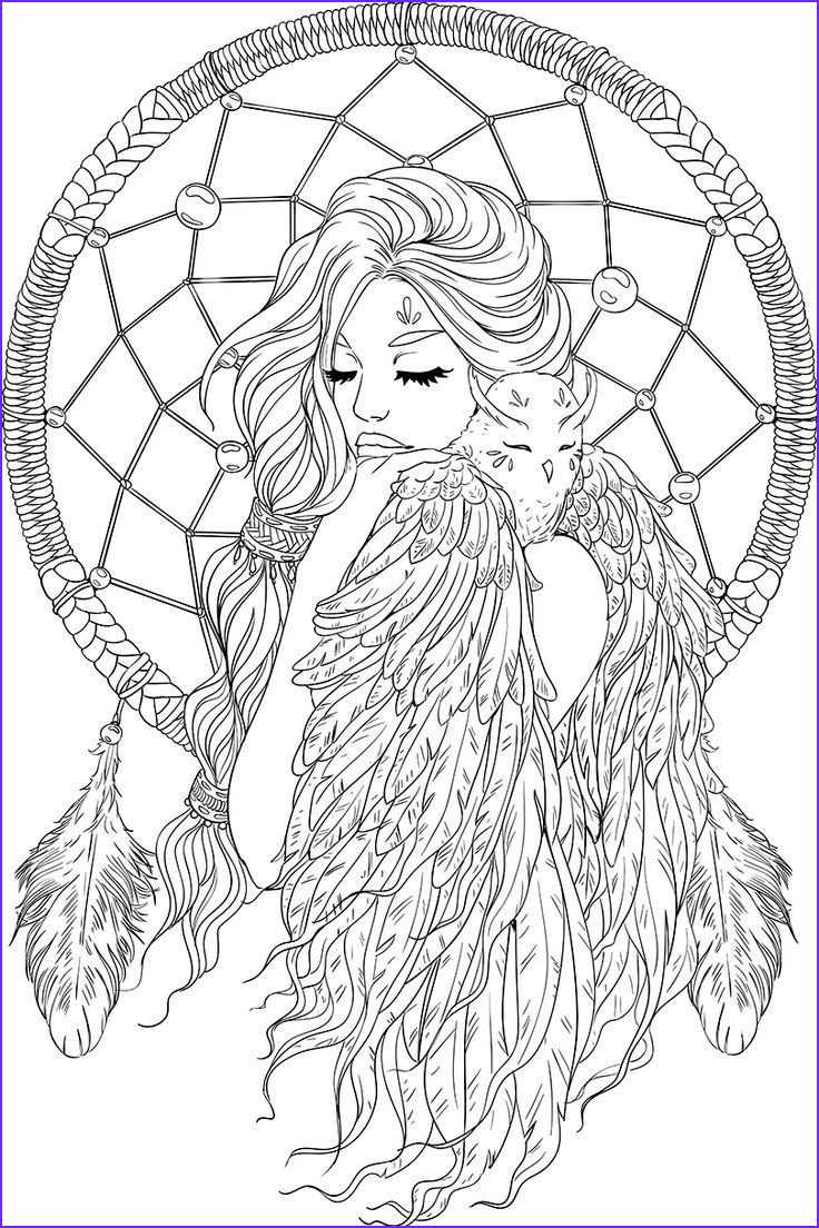 Adult Coloring Books for Men New Collection Lineartsy Free Adult Coloring Page Dreamcatcher Lined