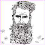 Adult Coloring Books For Men Unique Photos Bearded Hipster Man Coloring Book Page For Adult Stock