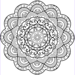 Adult Coloring Books Mandalas Awesome Images Flower Mandala Coloring Page