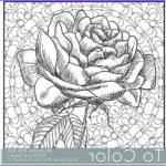 Adult Coloring Books Pdf Beautiful Images Items Similar To Printable Rose Coloring Page For Adults