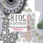 Adult Coloring Calendar Awesome Gallery 2018 Mandala Adult Coloring Page Calendar Free Printable