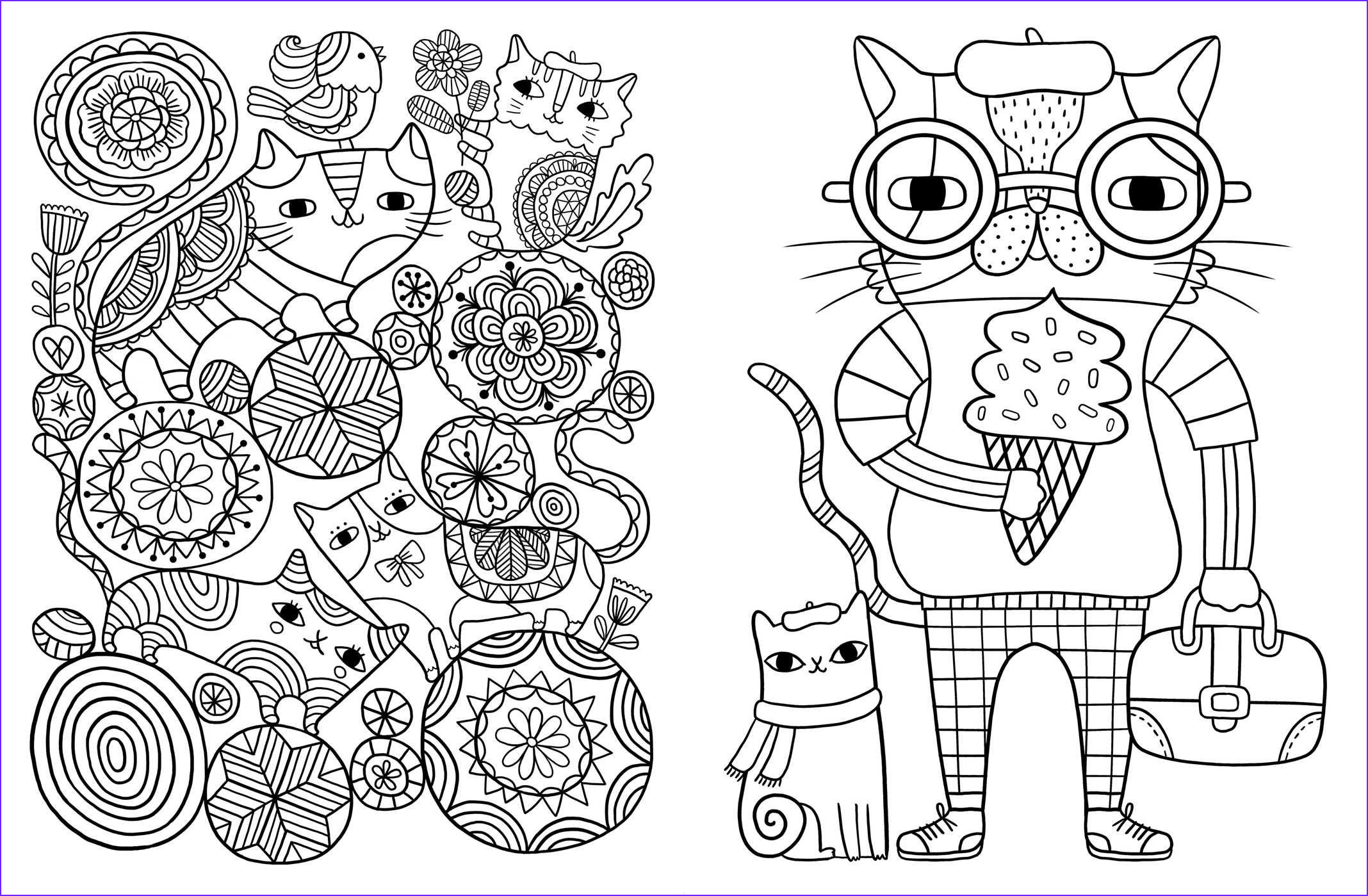 Adult Coloring Cat Beautiful Collection Posh Adult Coloring Book Cats & Kittens for fort