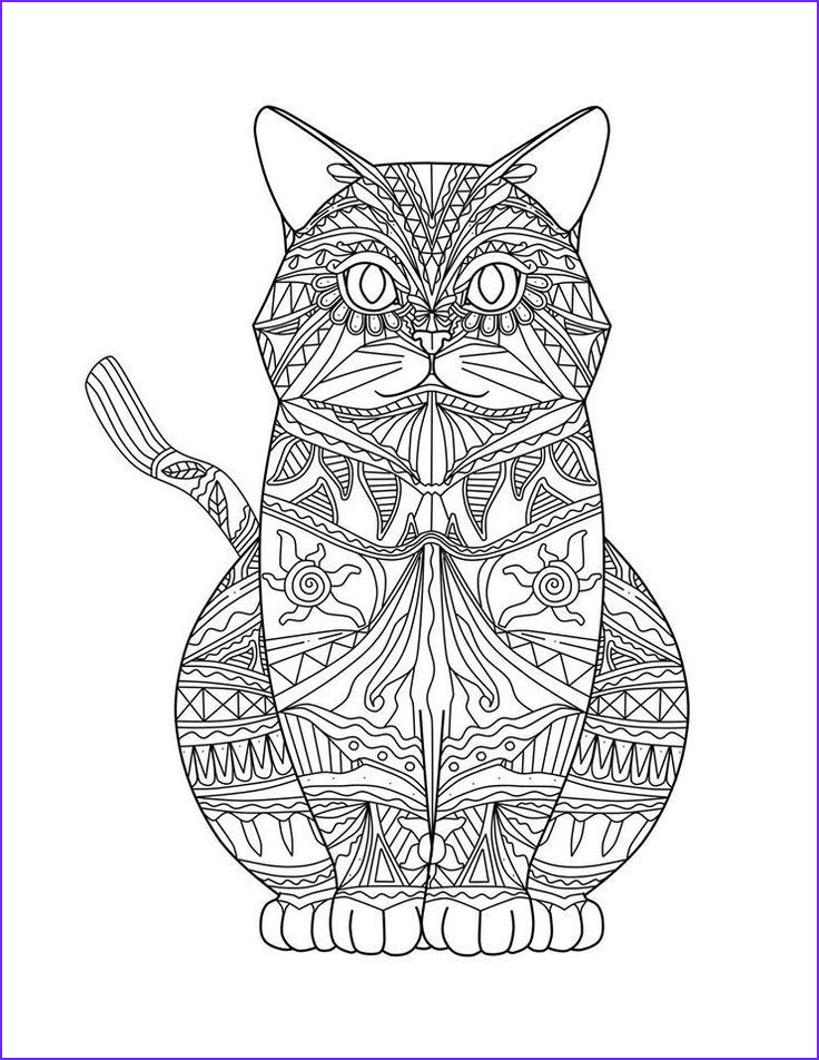 Adult Coloring Cat Elegant Image Adult Coloring Pages Cats 3 2