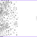 Adult Coloring Christmas Cards Awesome Stock Santa S Sleigh Colouring Card