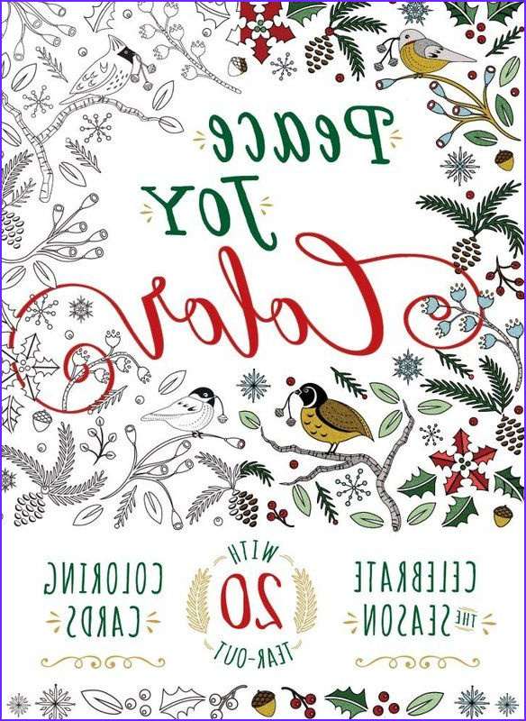 christmas coloring pages for adults peace joy color