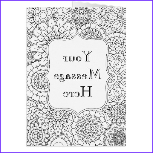 adult coloring book personalized greeting card