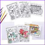 Adult Coloring Christmas Cards Best Of Image Amazon Christmas Cards For Coloring By Adults And