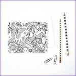 Adult Coloring Christmas Cards Cool Photos Adult Coloring Greeting Cards Floral Stationery By