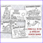 Adult Coloring Christmas Cards Cool Photos Amazon Christmas Coloring Greeting Cards Holiday